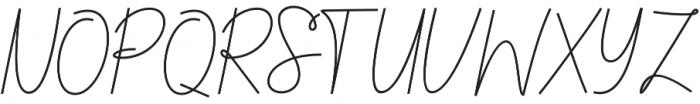Chandelle Signatures Script Regular otf (400) Font UPPERCASE