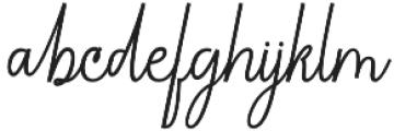 Chandelle Signatures Script Regular otf (400) Font LOWERCASE