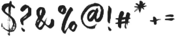 Change Brush Regular otf (400) Font OTHER CHARS