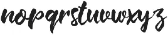 Change Brush Regular otf (400) Font LOWERCASE