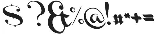Channel Left-Slanted otf (400) Font OTHER CHARS