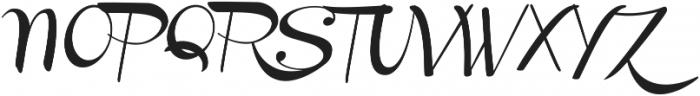 Channel Slanted 1 ttf (400) Font UPPERCASE