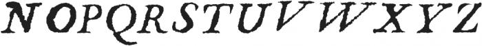 Chapitre Italic otf (400) Font LOWERCASE