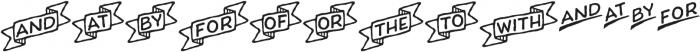 Charcuterie Catchwords otf (400) Font LOWERCASE