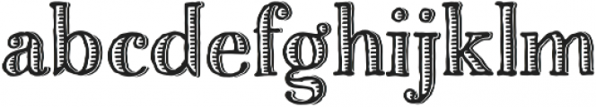 Charcuterie Etched otf (400) Font LOWERCASE