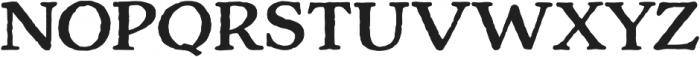 Charcuterie Serif otf (700) Font UPPERCASE