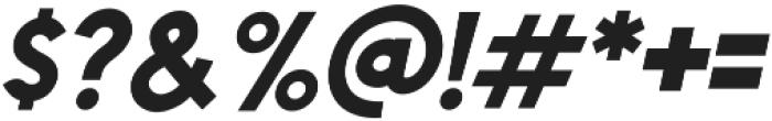Chardy Bold Slanted otf (700) Font OTHER CHARS