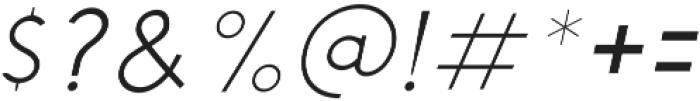Chardy Light Slanted otf (300) Font OTHER CHARS