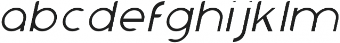 Chardy Light Slanted otf (300) Font LOWERCASE