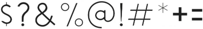 Chardy Light otf (300) Font OTHER CHARS