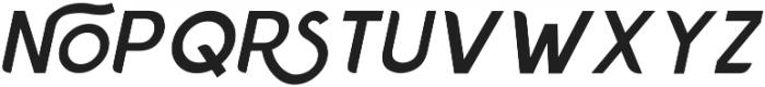 Chardy Medium Slanted otf (500) Font UPPERCASE