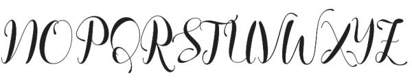 Chaster Script otf (400) Font UPPERCASE