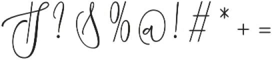 Chastom  Regular otf (400) Font OTHER CHARS
