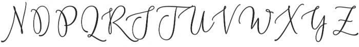 Chastom  Regular otf (400) Font UPPERCASE
