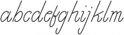 Chathalia2 otf (400) Font LOWERCASE