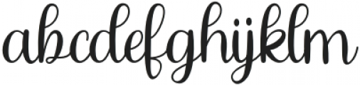 Chaybree otf (400) Font LOWERCASE