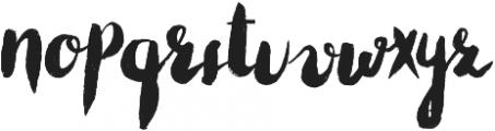 Cheeky otf (400) Font LOWERCASE