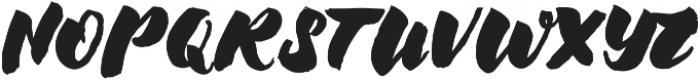 Chellomitha Brush ttf (400) Font UPPERCASE