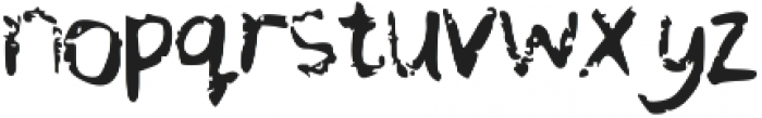 Chequered Pencil Crayons otf (400) Font LOWERCASE