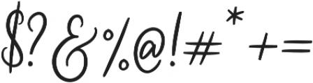 Cherishia Script otf (400) Font OTHER CHARS