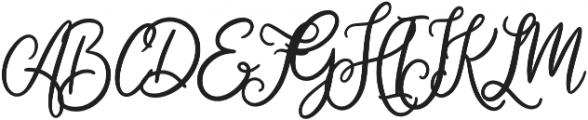 Cherishia Script otf (400) Font UPPERCASE