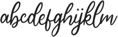 Cherishia Script otf (400) Font LOWERCASE