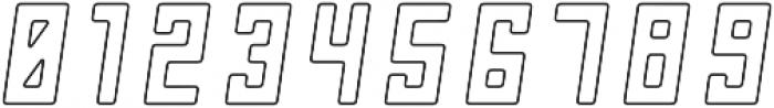 Chernobyl Oblique-Outline otf (400) Font OTHER CHARS