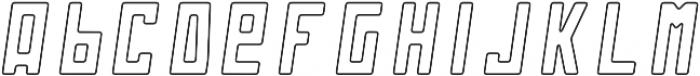 Chernobyl Oblique-Outline otf (400) Font LOWERCASE