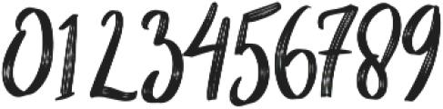 Cherrio Brush otf (400) Font OTHER CHARS