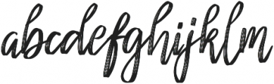 Cherrio Brush otf (400) Font LOWERCASE