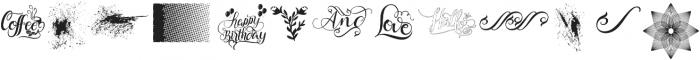 Cherryla Ornaments ttf (400) Font LOWERCASE