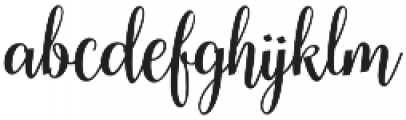Cherryla Regular ttf (400) Font LOWERCASE