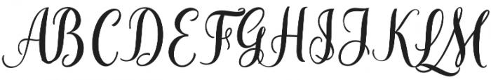 Cherryla Script Regular otf (400) Font UPPERCASE