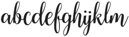 Cherryla Script Regular otf (400) Font LOWERCASE