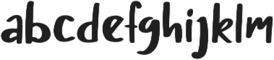 Chery Rush Solid otf (400) Font LOWERCASE