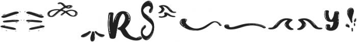 Chery Rush doodles n swash otf (400) Font UPPERCASE