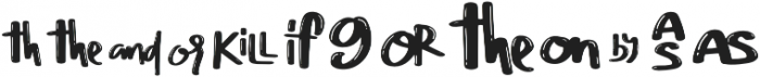 Chery Rush doodles n swash otf (400) Font LOWERCASE