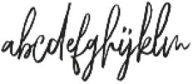 Chester Brush Regular otf (400) Font LOWERCASE