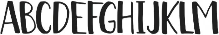 Chickadee Regular otf (400) Font UPPERCASE