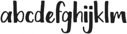 Chickadee Regular otf (400) Font LOWERCASE