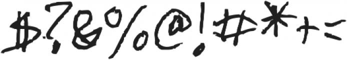 Chicken Scratch ttf (400) Font OTHER CHARS