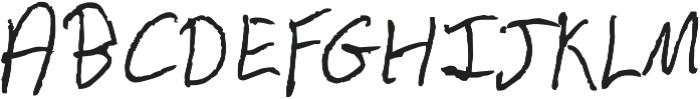 Chicken Scratch ttf (400) Font UPPERCASE