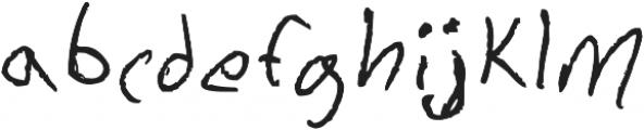 Chicken Scratch ttf (400) Font LOWERCASE