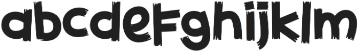 Childwood Rough otf (400) Font LOWERCASE