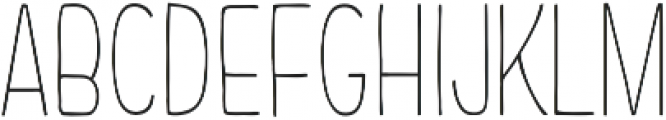 Chimphand Light Condensed otf (300) Font UPPERCASE