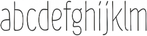 Chimphand Light Condensed otf (300) Font LOWERCASE