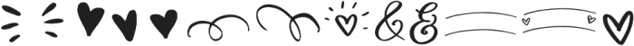 Chin up Buttercup Elements otf (400) Font LOWERCASE