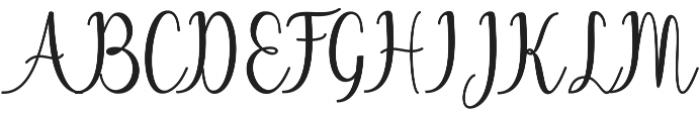Chinchilla otf (400) Font UPPERCASE
