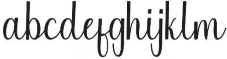 Chinchilla otf (400) Font LOWERCASE