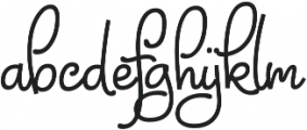 Chiply ttf (400) Font LOWERCASE